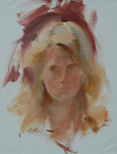 Young woman Life Study Portrait
